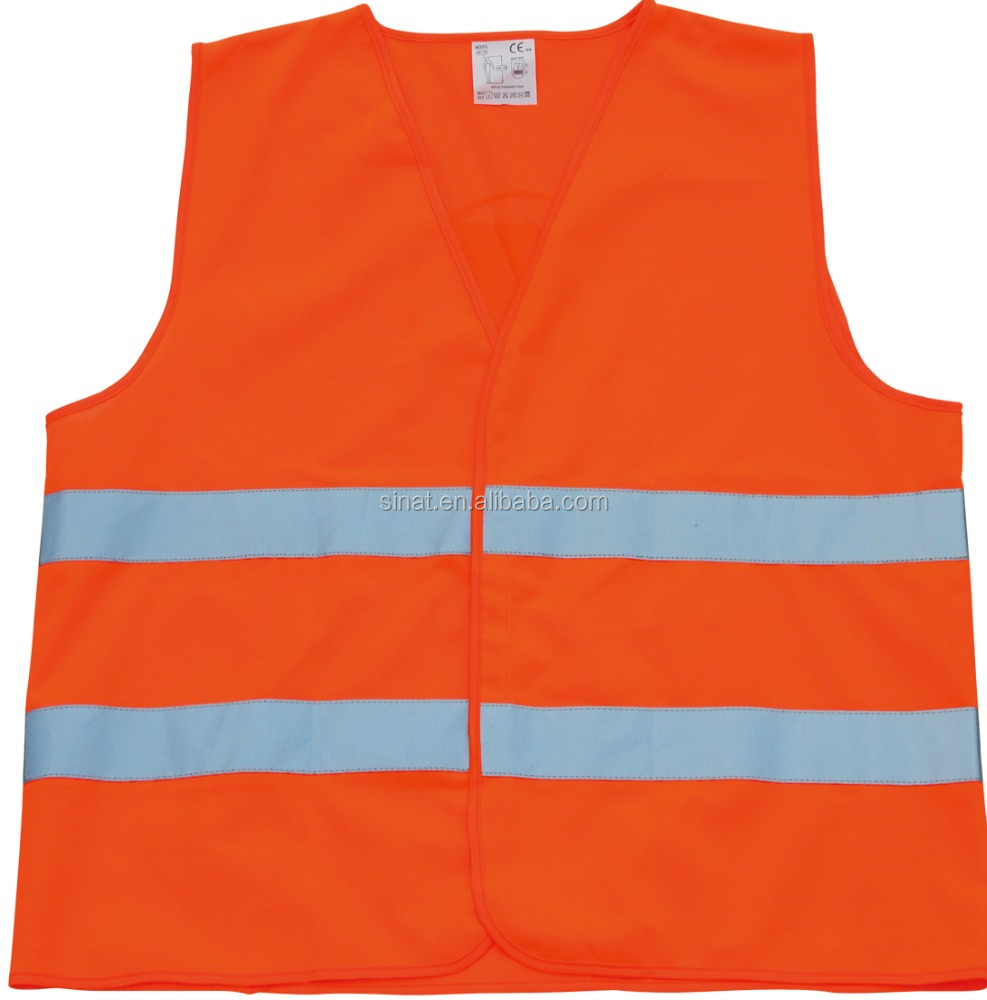 HIGH VISIBILITY RED CE SAFETY VESTS
