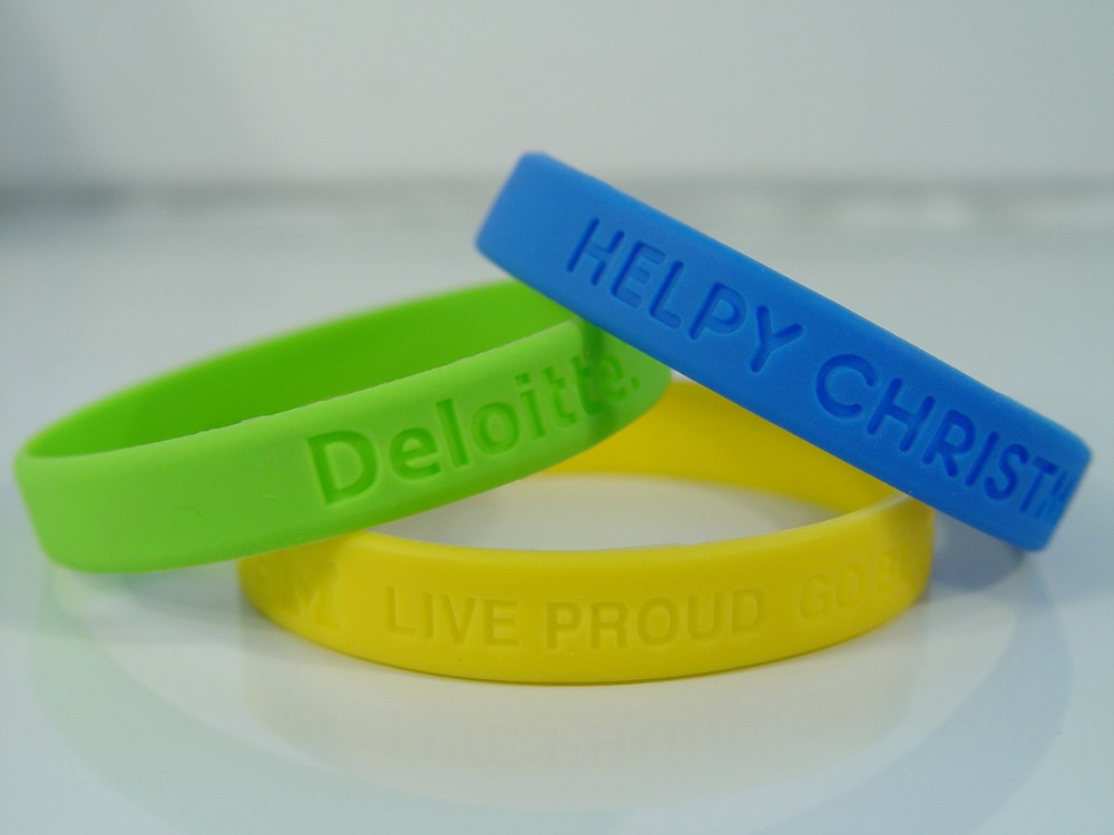 Cheap Custom Silicone Wristband