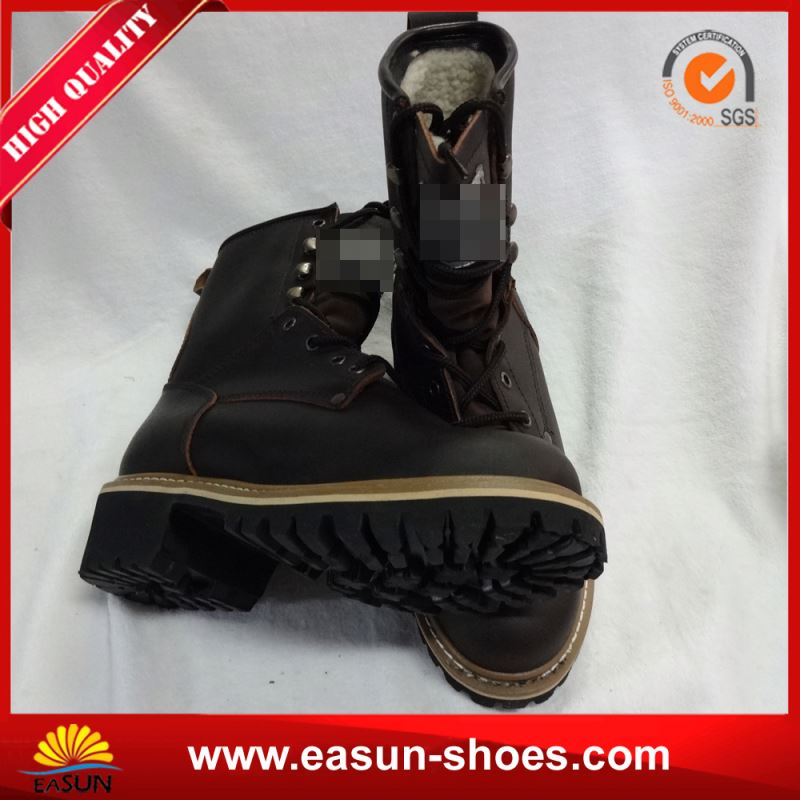 Ladies safety logger boots army logger boots logger boots wholesaler