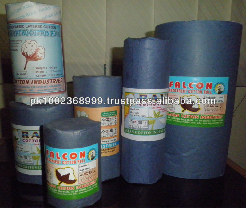 HOT SALE Hygienically Manufactured ISO 9001 , ISO 14001 Certified Hospital Quality 100 % Absorbent Medical Cotton Wool Roll