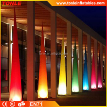 Colorful outdoor and indoor inflatable light Tower with led for sale