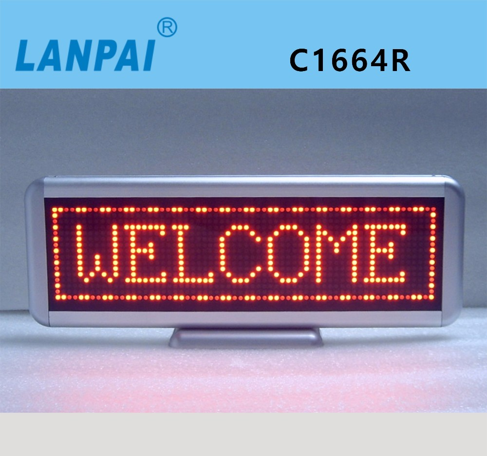 LANPAI free style running message text led display board led module with good price