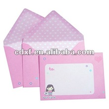pink cartoon Paper Envelope(envelope factory)