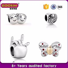 Excellent design puppy dog paw charm bead, small jewerly charms