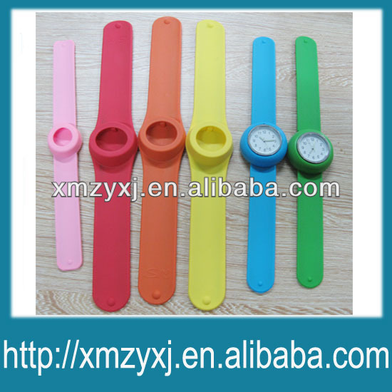 kids & adult silicone slap on band watches slap wrap wrist watch