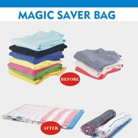 Dust-proof clothing compressed storage space bag with zippers
