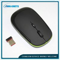 ultra-thin cute designer wireless laptop mouse , H0T030 , fashionable ultra thin wireless mouse custom printed cordless mouse