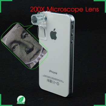 High quality Mobile phone 200X Microscope lens for smartphone