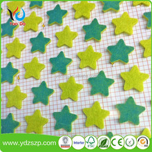 2018 hot sale professional design top quality new products custom home wall decoration felt glow in the dark star sticker