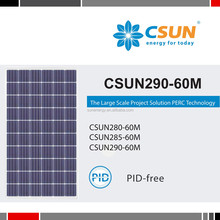 highest power output 290W CSUN solar modules with 17.86% module efficiency