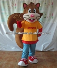 sm201 adult squirrel mascot costume with big long tails