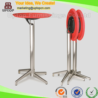 (SP-BT388) Modern red round folding plastic high top cocktail table