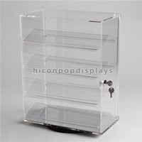 Custom Advertising Desktop Lockable Two-Way Rotating Acrylic Electronic Cigarette Display Case