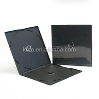 5.2mm Slimline Double Black Square Short PP CD VCD DVD Case