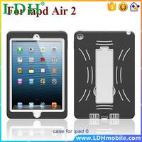 1100pcs Free DHL Hot Heavy Duty Slide Kickstand Tablet Cover For iPad Air 2 Case With Skin For ipad Air 2 Cover Bags Shoockproof