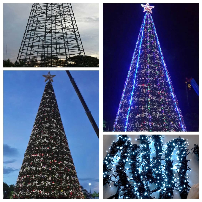 luces del rbol de led exterior solar outdoor decorado rboles de navidad