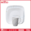 Food certificated factory direct sell melamine plastic bowl square plated dinner set
