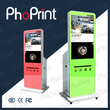 2015 Indoor/Outdoor lcd advertising player oem photobooth case shell for instagram boft vending wechat photo print machine oem