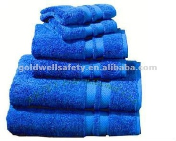 Bath Towels Set With Satin Band