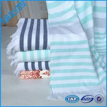 5 star quality goods super soft hand feeling custom strip cotton beach towel