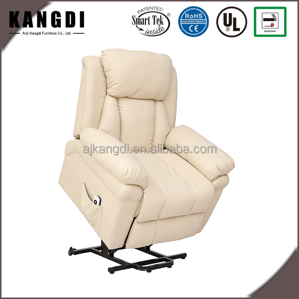 KD-LC7132 Competitive price leather electric lift recliner chair for elderly