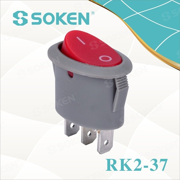 Soken Ellipse on off Rocker Switch with lamp t125/55 10a 250vac