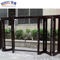 AS 2047 Luxury commercial office accordion doors tempered glass aluminium folding doors