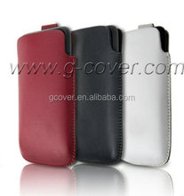 Leather pouch case for HTC