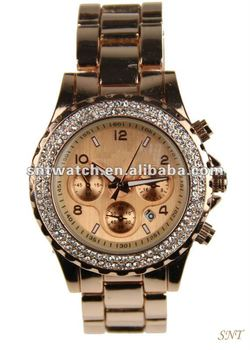 Hot sale fashion alloy watch, Japan movt, up-market watch, men's wristwatch