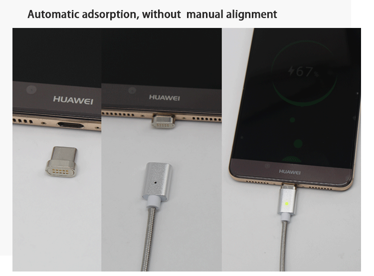 Quick Charge 2.4A data magnetic usb charging cable