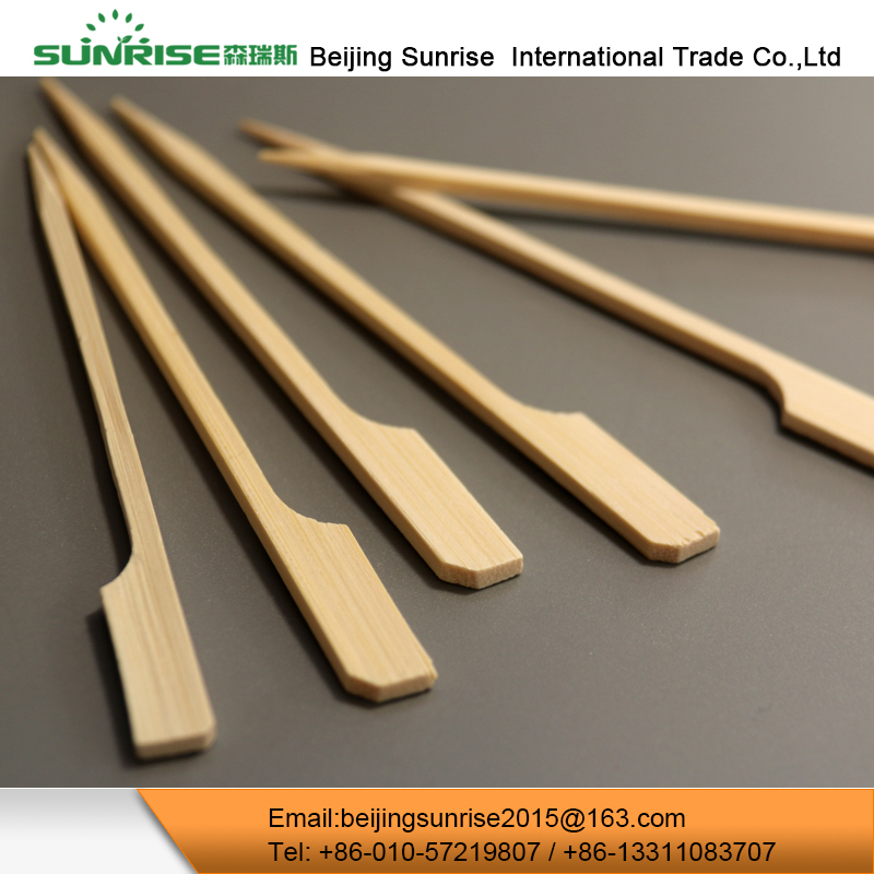 Disposable Bamboo Paddle Kebab Meat Rotating Bbq Skewers