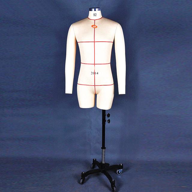 male adjustable men shoulder dress form linen or mannequin tailor half body