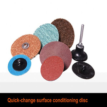 Quick change abrasive disc