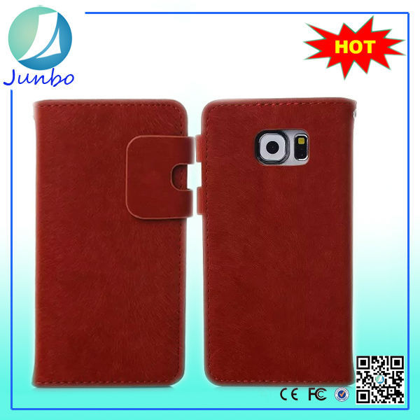 Cheap Price Wholesale Leather Wallet s6 Case for Samsung Galaxy s6