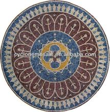 marble mosaic medallion, stone mosaic table