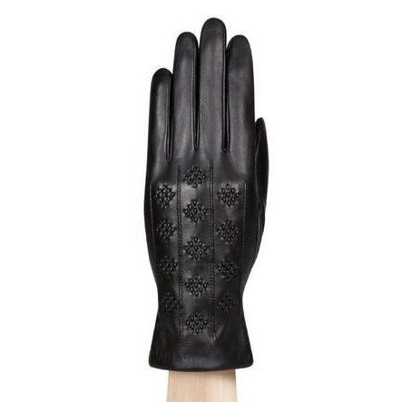 Ladies leather gloves with threading back fashion women leather gloves