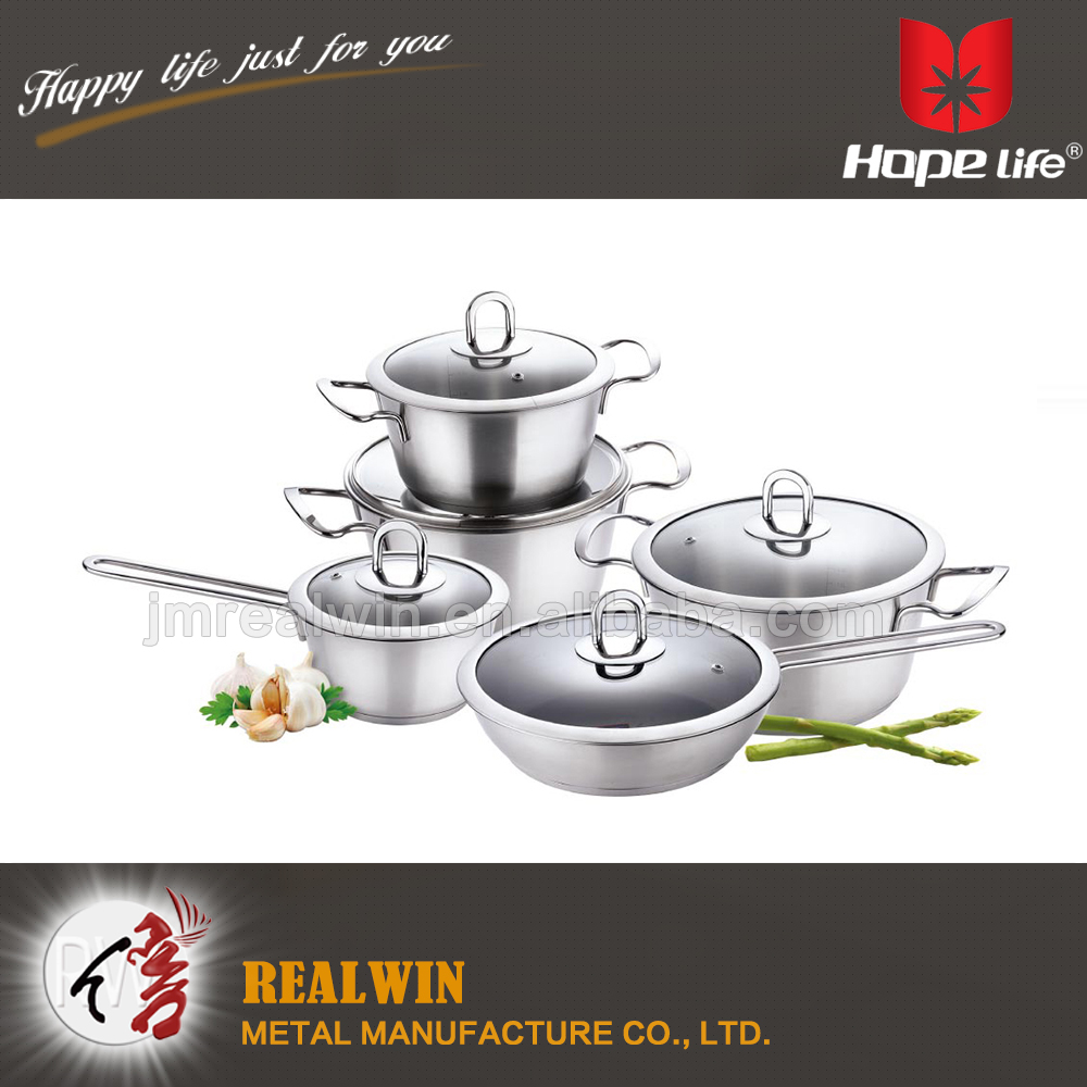 Unique design Glass cover Stainless steel casserole/stainless steel cookware