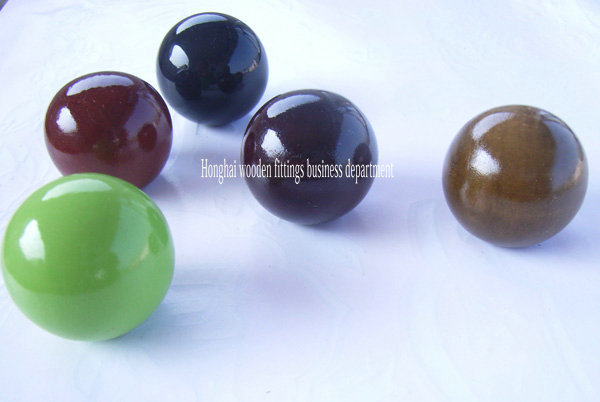 30mm pine wood round ball for decoration