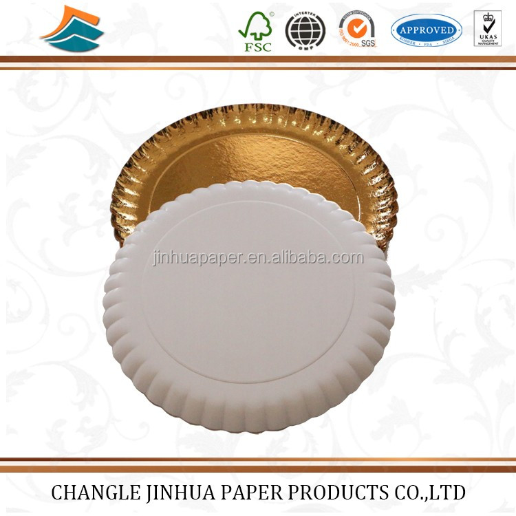 Golden Disposable Custom Printed Wholesale Raw Materials Paper Plates Price