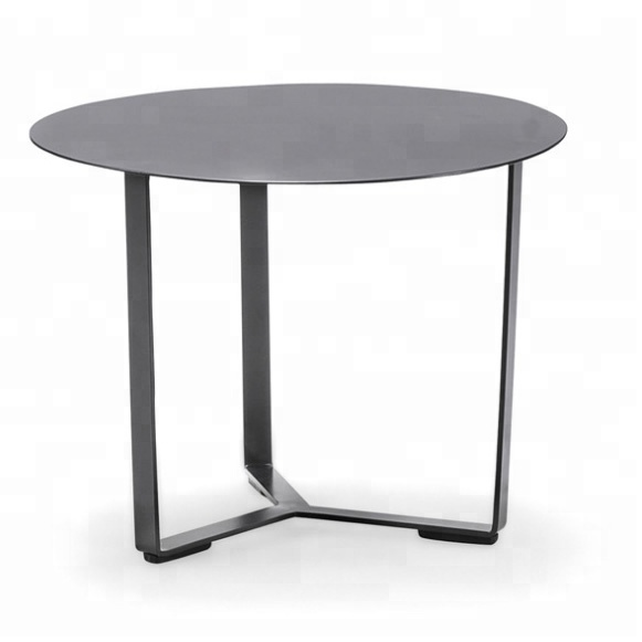 Modern european outdoor furniture glass metal patio coffee <strong>table</strong> for hote lobby terrace balcony living room office (C030)