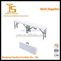 Folding in half bench plastic outdoor bench 183cm HDPE folding bench