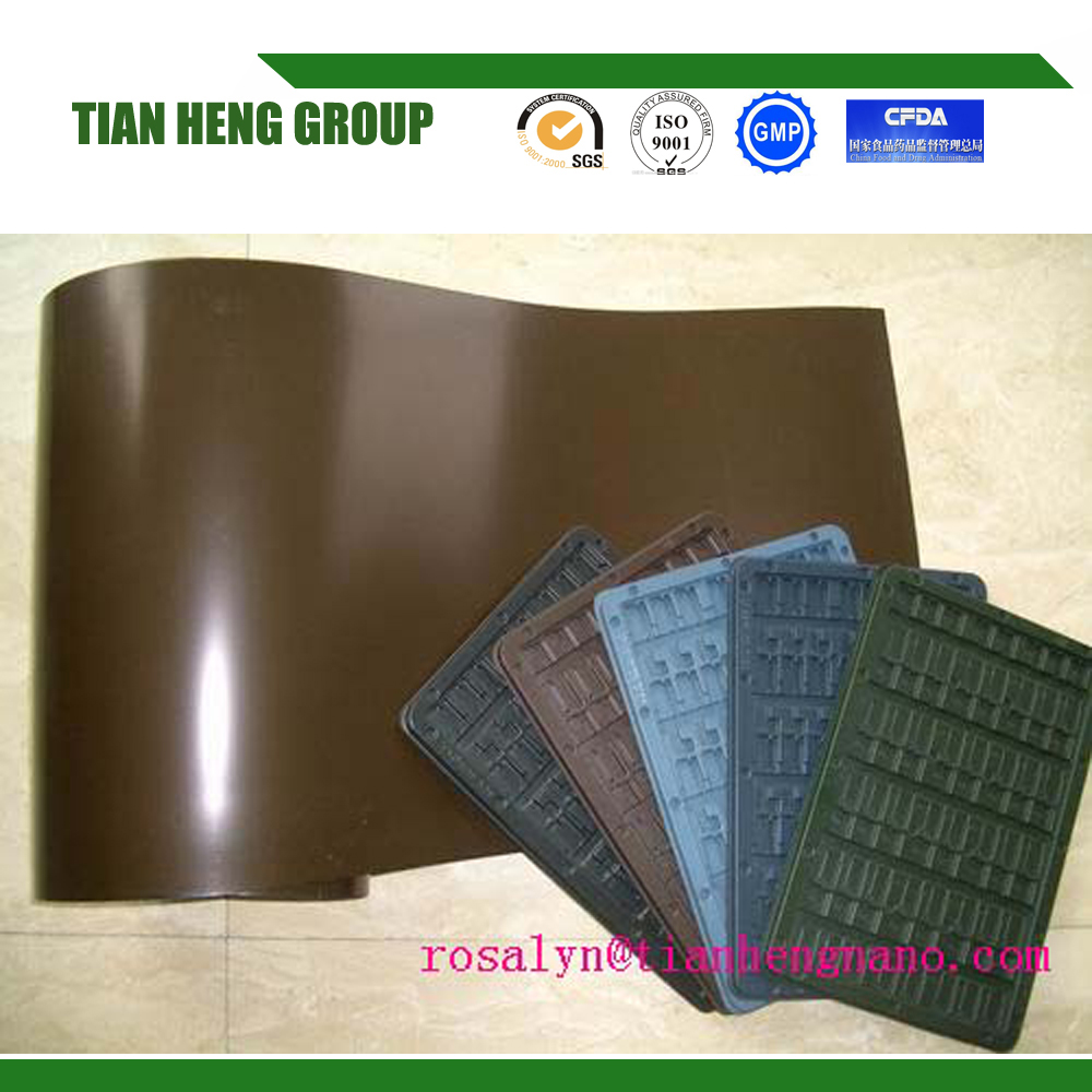 SGS HIPS plastic sheet vacuum forming electronic packaging