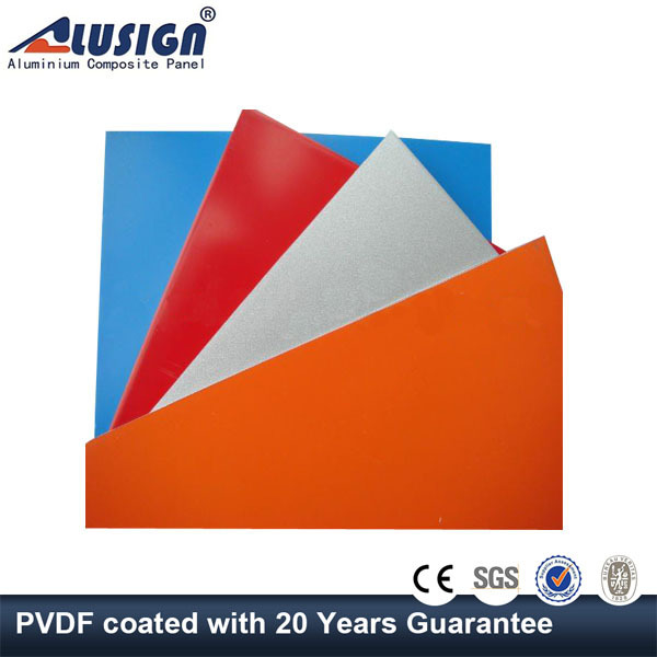 Alusign 2015 lightweight low cost aluminum plastic composite panel wall cladding
