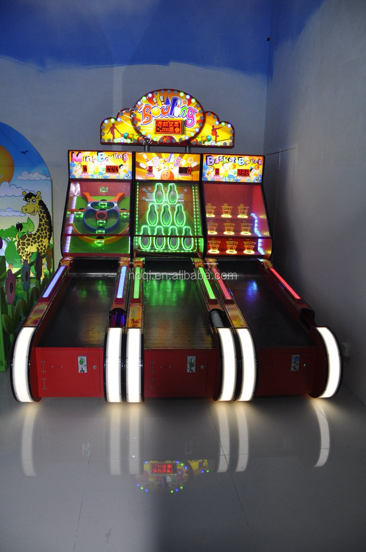 NQT-C01 coin operated arcade bowling machines ticket redemption game machine for game center