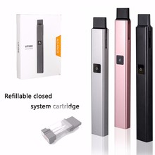 Refillable closed system cartridge no flame e-cigarettes private label