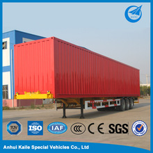 China used fiberglass cargo box semi trailer