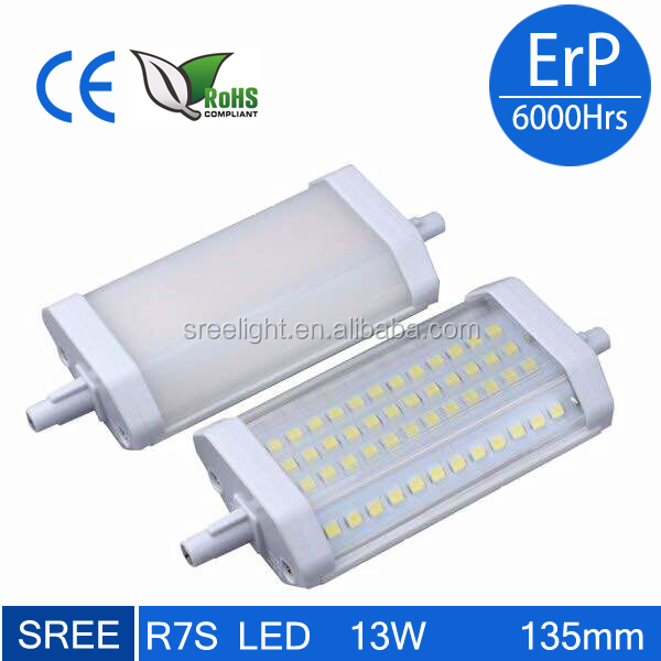 Ceramic 10w 13w rx7s led lamp, 135mm led r7s, 300w halogen lamp led replacement