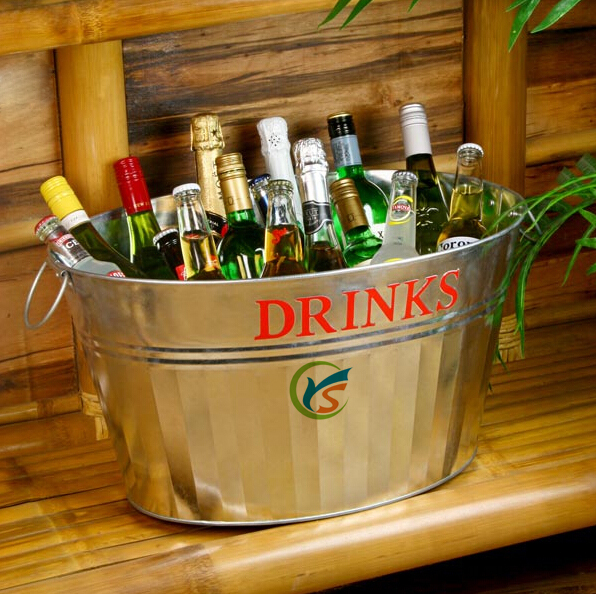 Galvanised Steel Drinks Party Tub ice bucket cooler