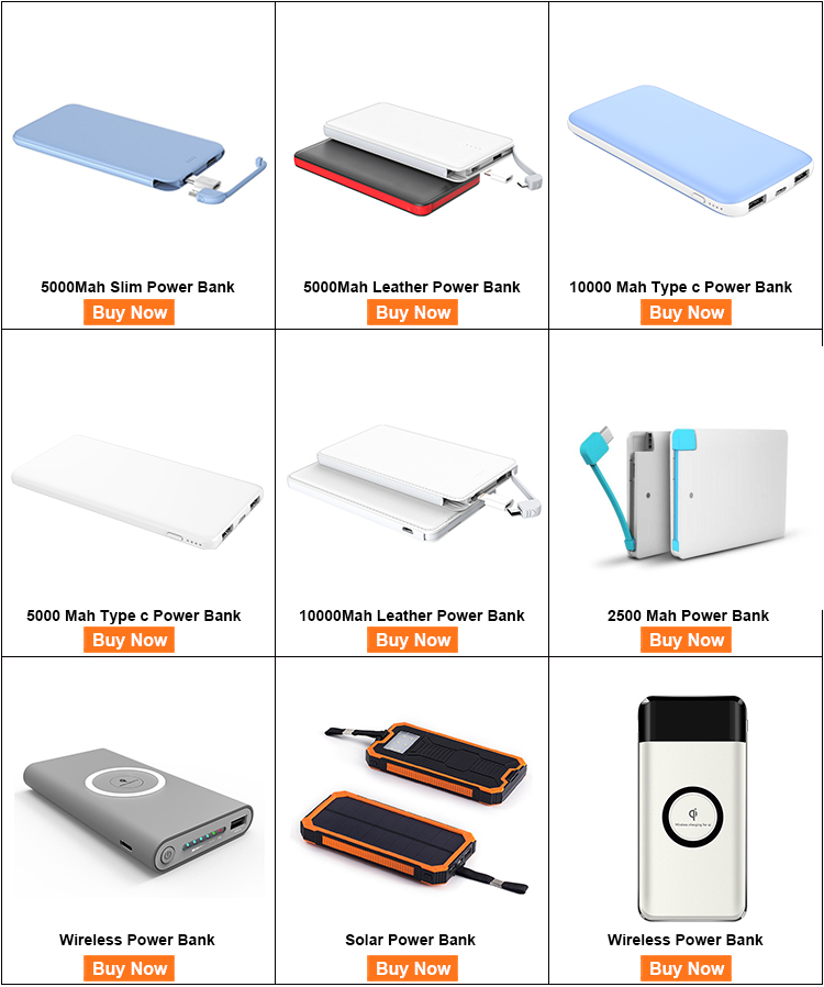 New fashion custom smartphone powerbank factory usb cell phone power banks portable power bank 10000mah