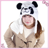 Cartoon Animal Panda Cute Fluffy Plush Cap Hat Plush Animal Head Hat